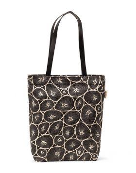 Väska med axelrem i läder